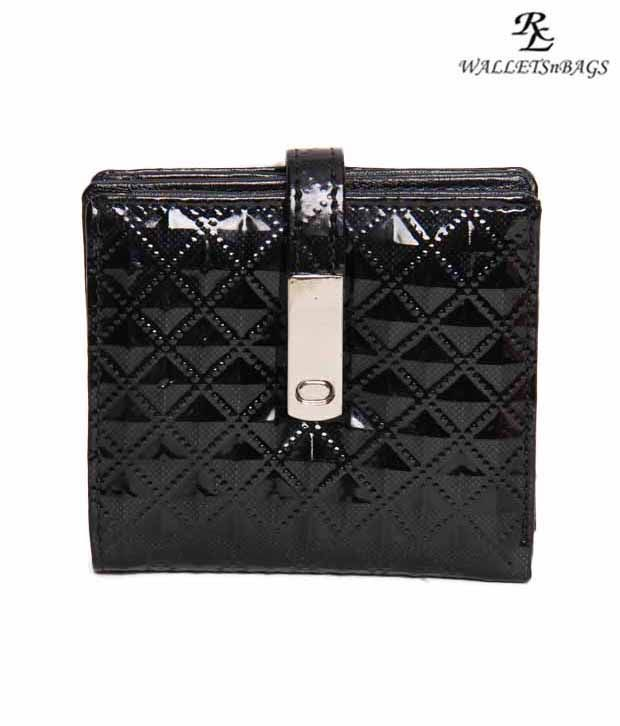 WalletsnBags Shiny Black Wallet