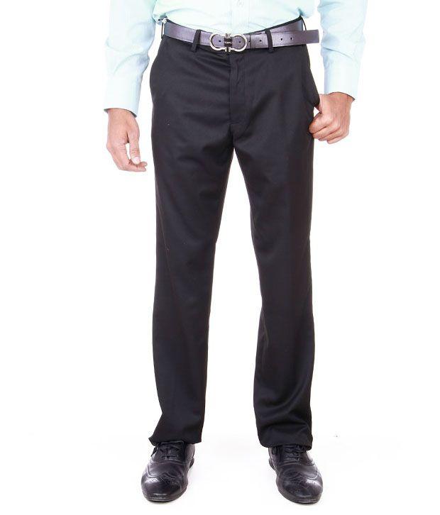 Peter England Navy Blue Formal Trouser
