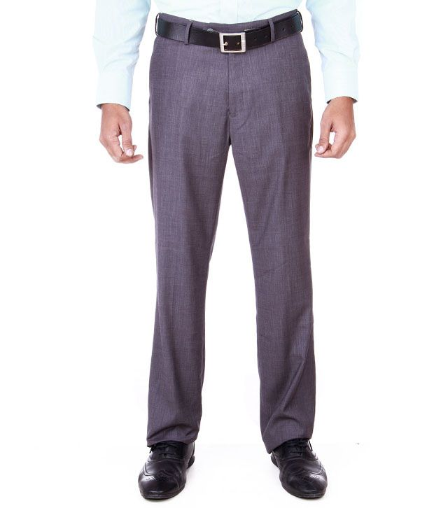 Peter England Black Formal Trouser