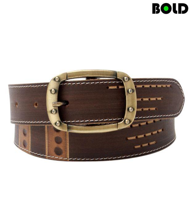 Bold Dark Brown Contemporary Designed Smart Belt