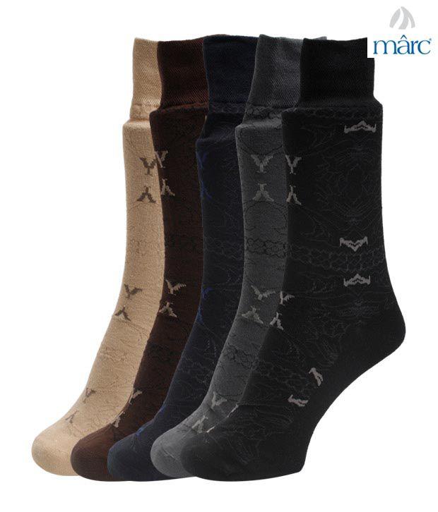 Vinenzia Mix Abstract Design Set of Five Socks
