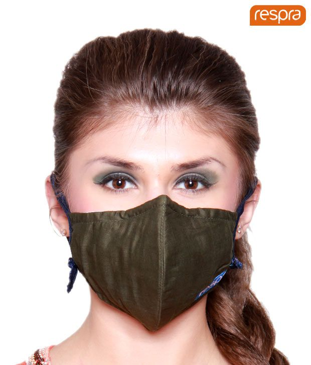 Respra - Anti Pollution Mask - Dark Green (Pack of 2)