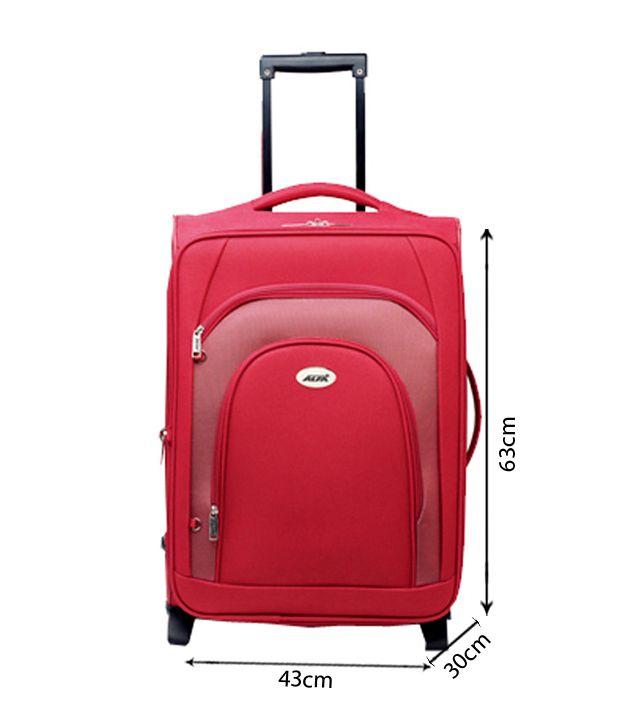 Alfa Modish & Spacious Fuchsia Red Strolly Travel Bag