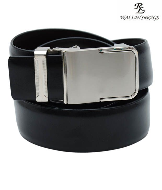 WalletsnBags Stylish Black Reversible Belt