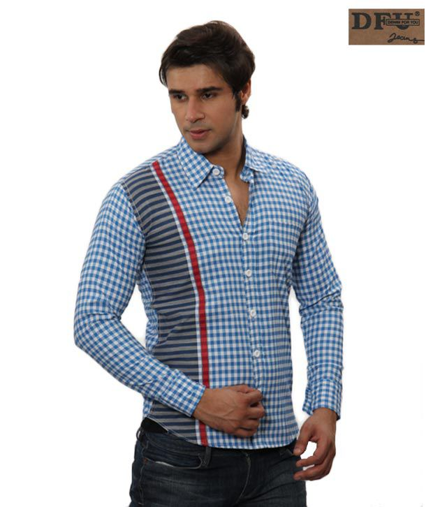 DFU Jeans Blue Checks Shirt