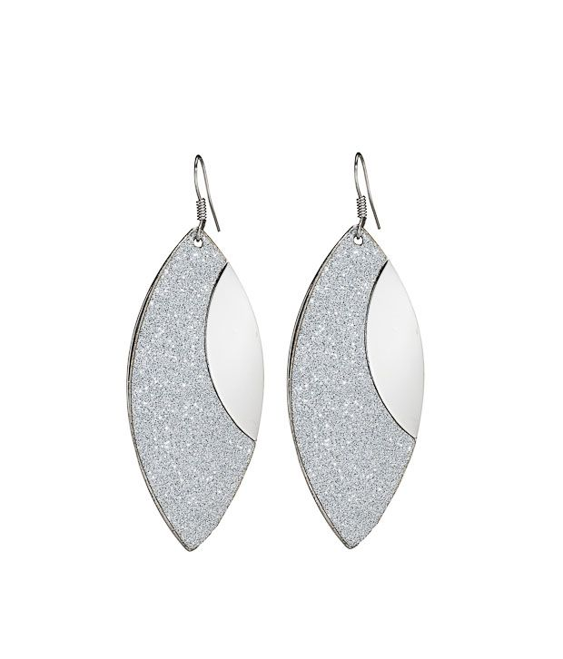 Youshine Bedazzle Silver Tone Earrings