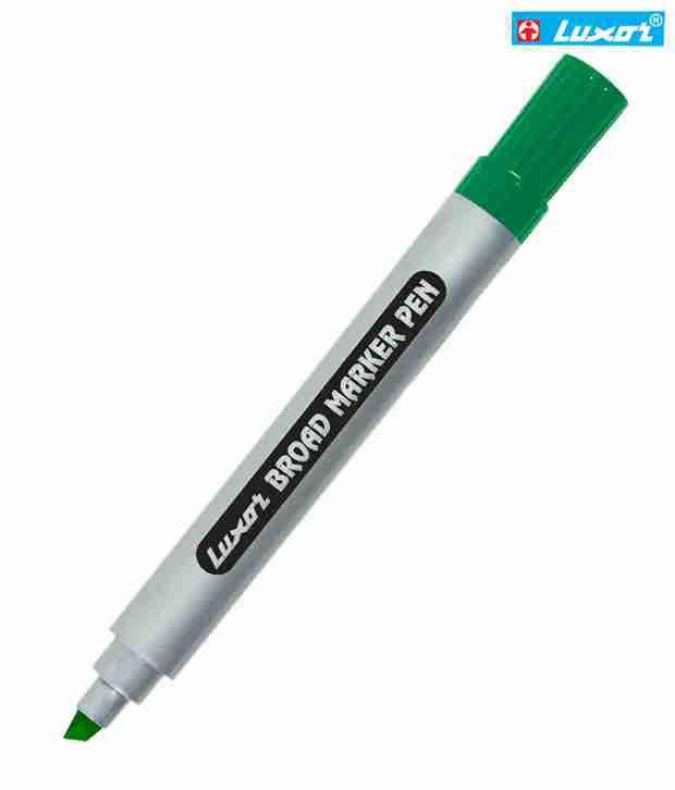 Luxor Green Chisel Tip Board Marker (Set Of 10 Pcs)