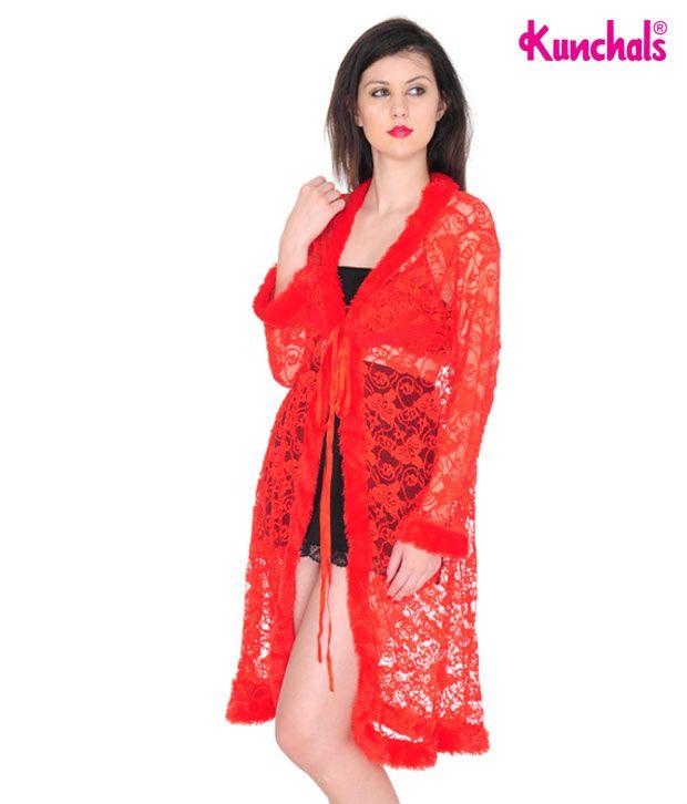 Kunchals Red Lacy Nightwear