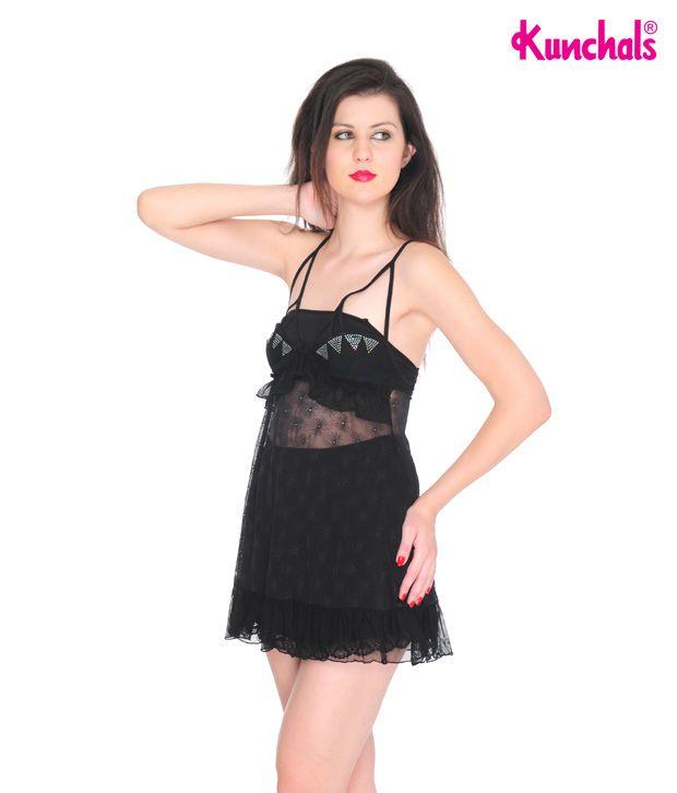 Kunchals Black Baby Doll Dress