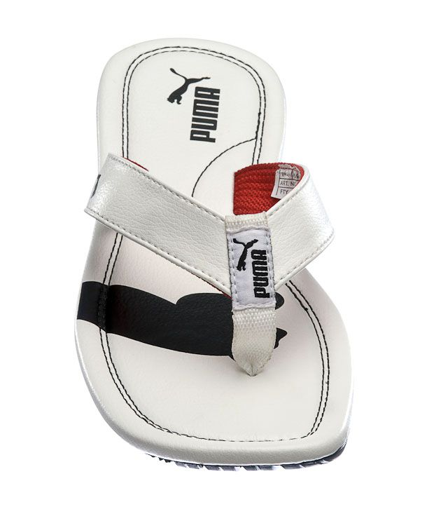fed228f2a56 Puma Drifter Cat II IND White   Black Slippers Price in India- Buy ...