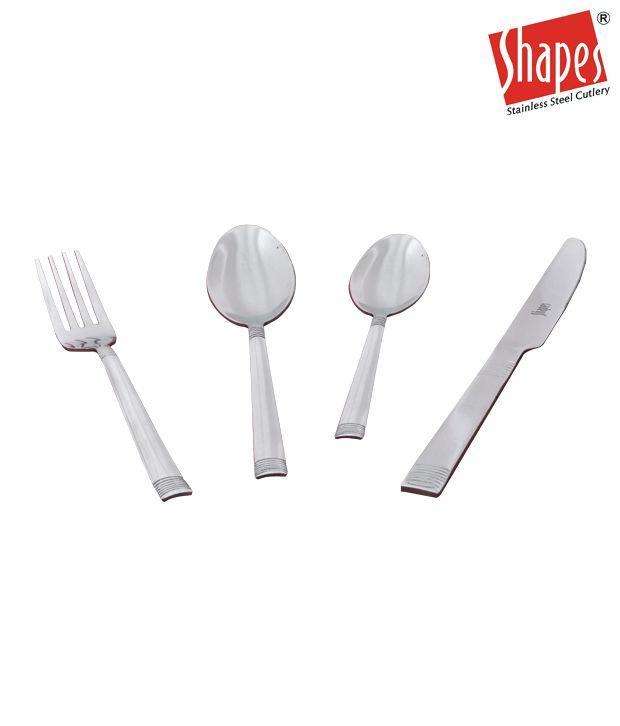 Shapes Elegant Cutlery Set - 24 Pcs