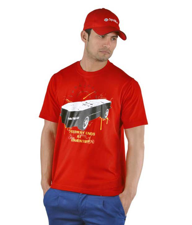 Spolike Red T-Shirt with Freebie Cap