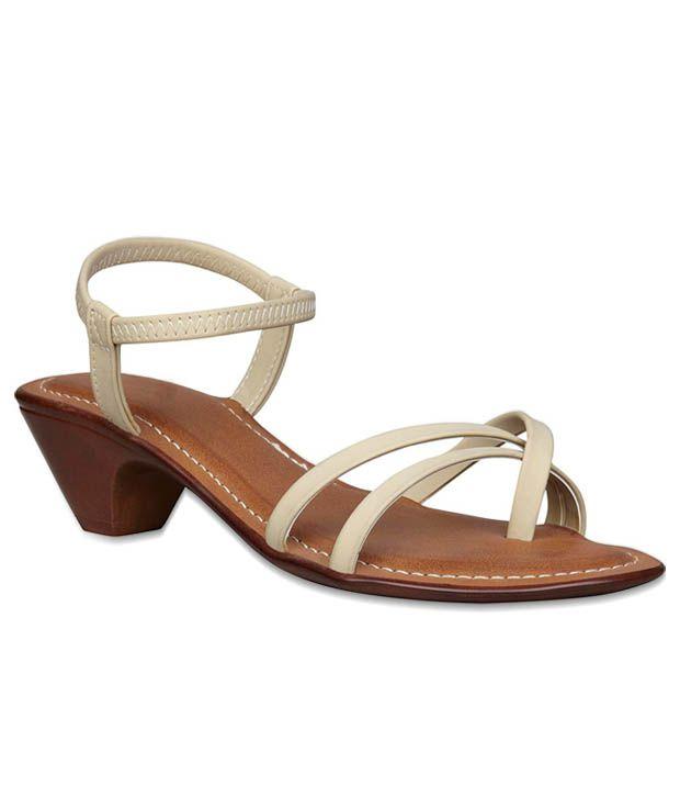 4ec178188c66 Bata Alluring Beige Heel Sandals Price in India- Buy Bata Alluring Beige  Heel Sandals Online at Snapdeal