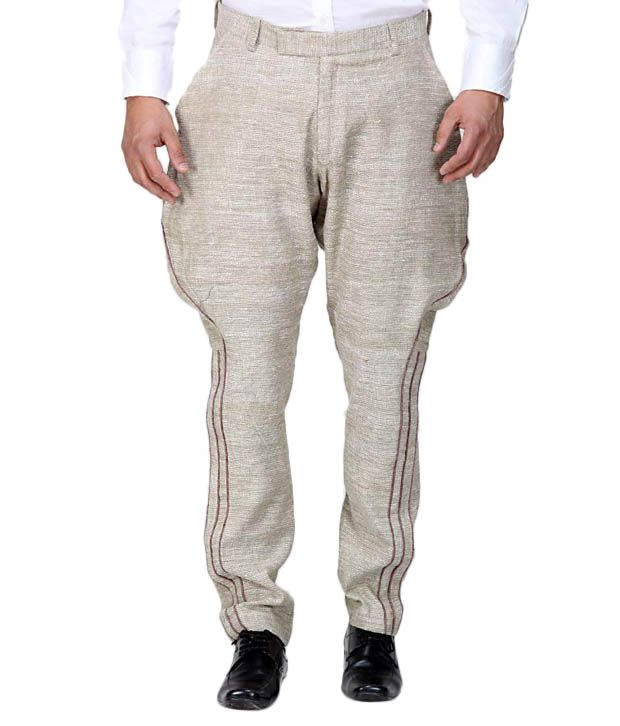 Earthen Canvas Beige Jodhpuri Trouser