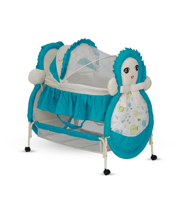 Delia Cute Face Baby Bassinet-Blue