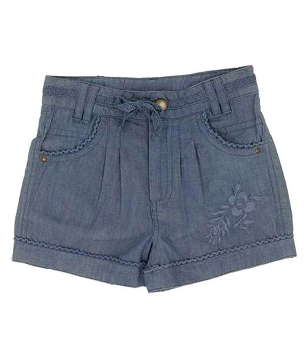 ShopperTree Blue Denim Shorts For Kids