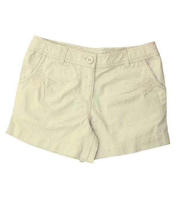 ShopperTree Beige Smart Fit Shorts For Kids
