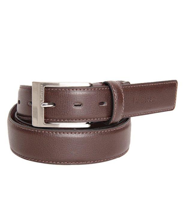 Van Heusen Contemporary Textured Brown Belt