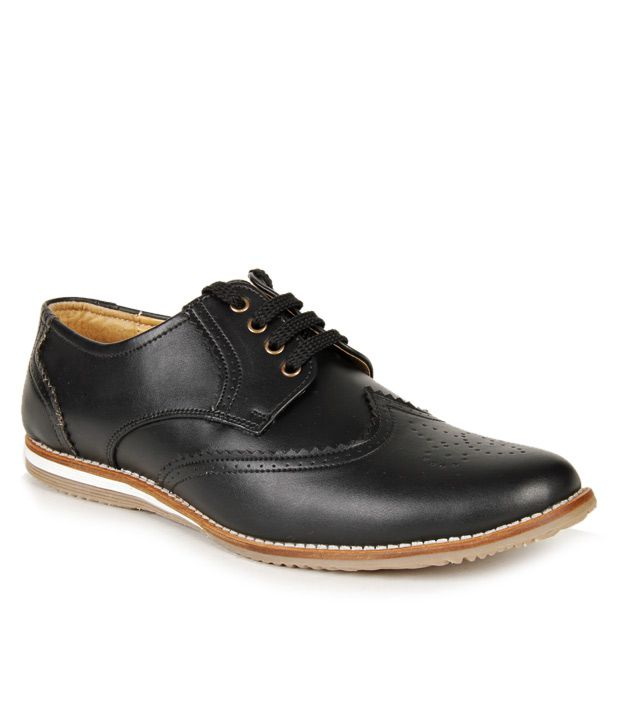 Bacca Bucci Feisty Black Derby Shoes