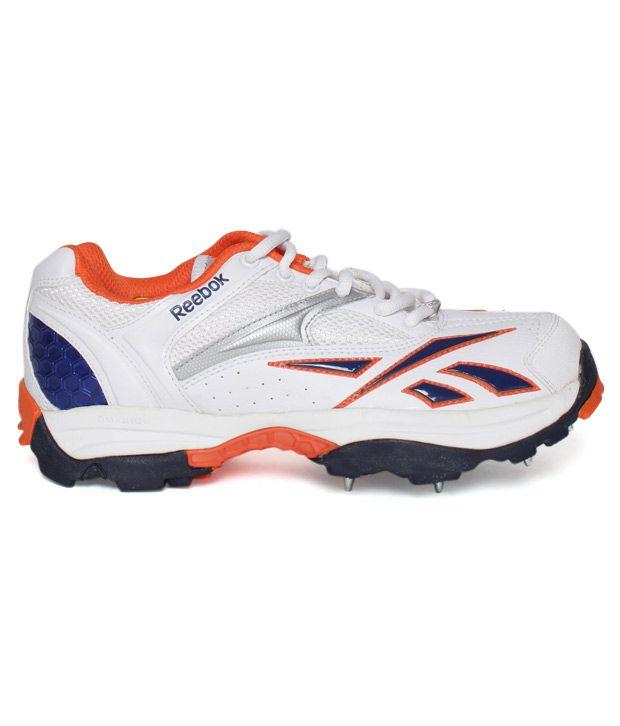 3e8997fc0925 Reebok Centurian White   Royal Blue Cricket Shoes - Buy Reebok ...