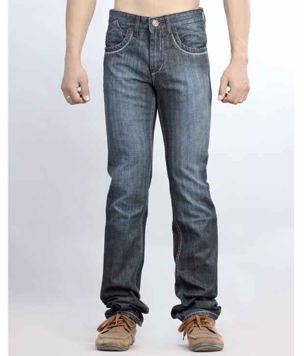 Lawless Low Rise Slim Fit Straight Hem Denims Blue Jeans