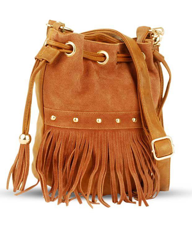 Done By None Celebs Brown Handbag