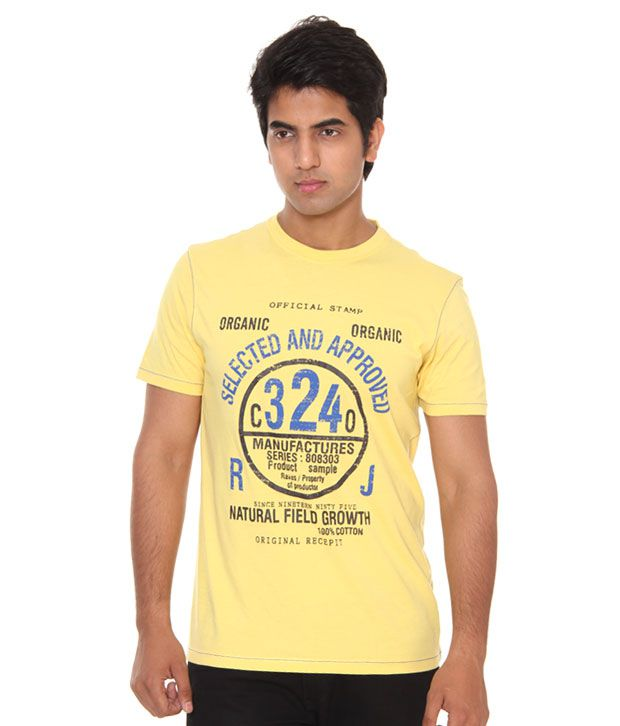 Raves Yellow Men's T-Shirt