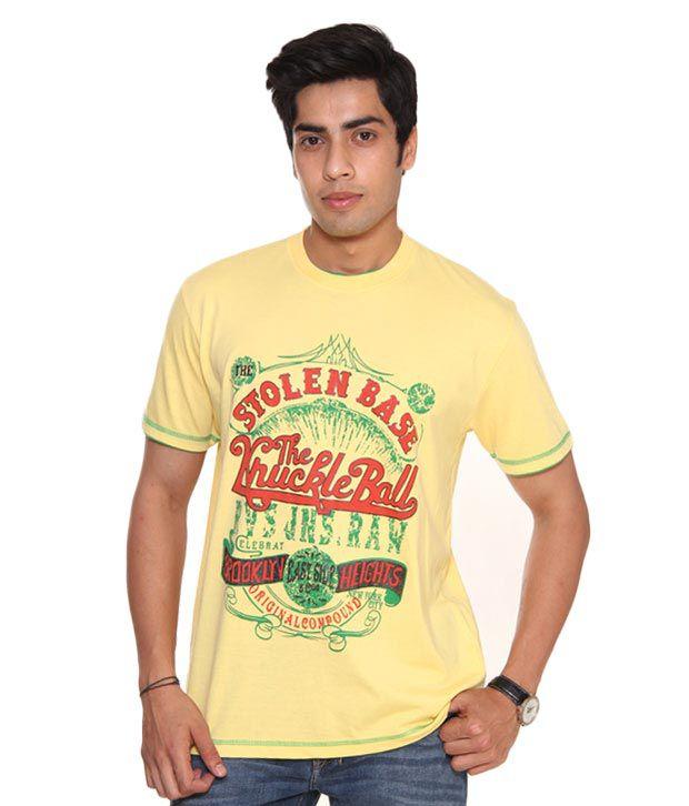 Raves Brooklyn Yellow T-Shirt