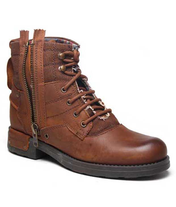 Franco Leone Appealing Tan High Ankle Length Boots