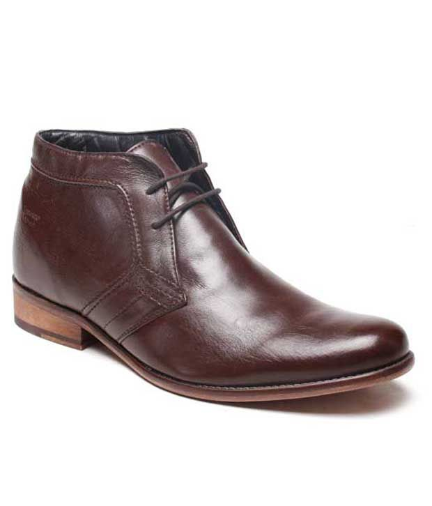 Franco Leone Brown Ankle Length Boots