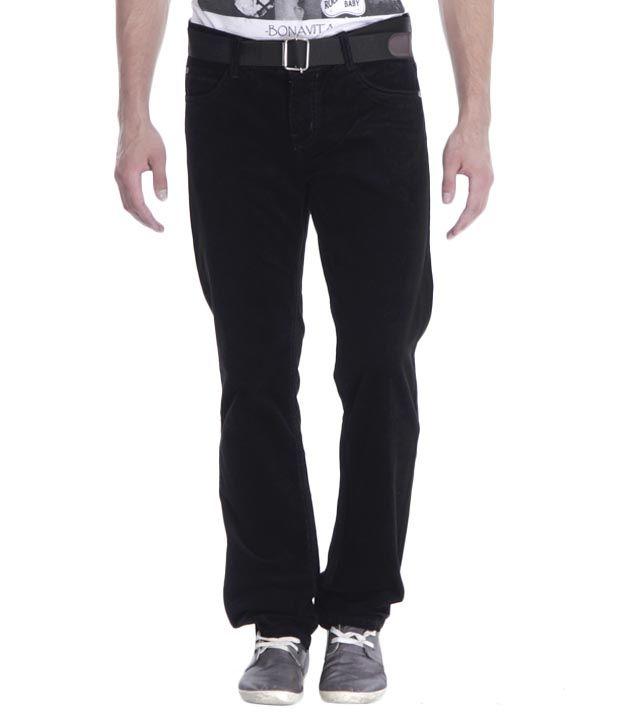 Fever Black Corduroy Jeans