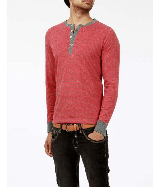 Basics 029 Red Striped T-Shirts