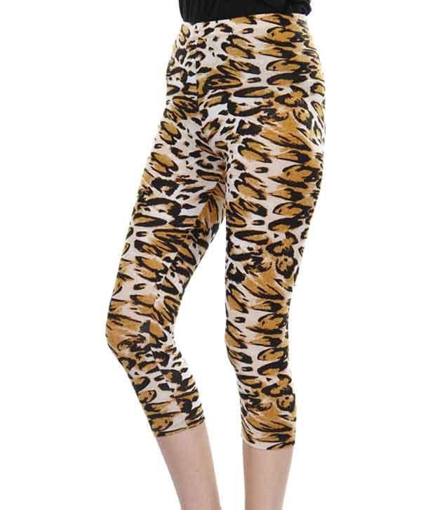 de200a0c279b37 Femmora White-Mustard Leopard Printed Leggings Price in India - Buy Femmora  White-Mustard Leopard Printed Leggings Online at Snapdeal