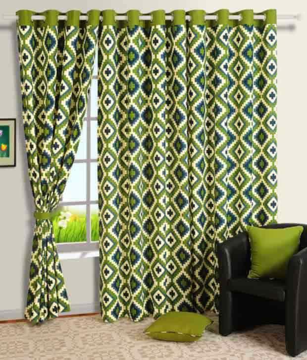 Swayam Printed Eyelet Curtain