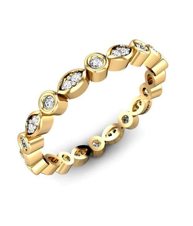 Candere Gold & Diamond Angarika Diamond Ring