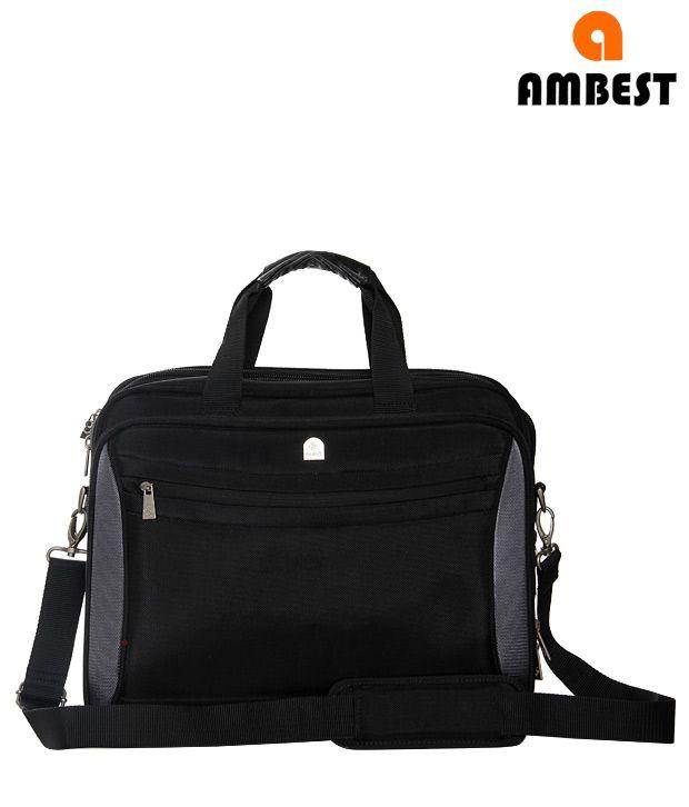Ambest Laptop Bag-Black & Grey