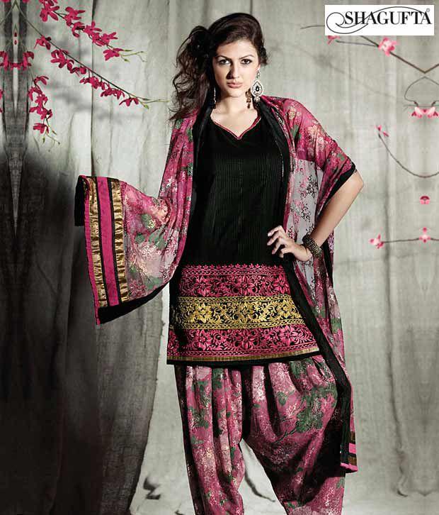 Shagufta Chanderi Banarasi Silk Suit-B-521