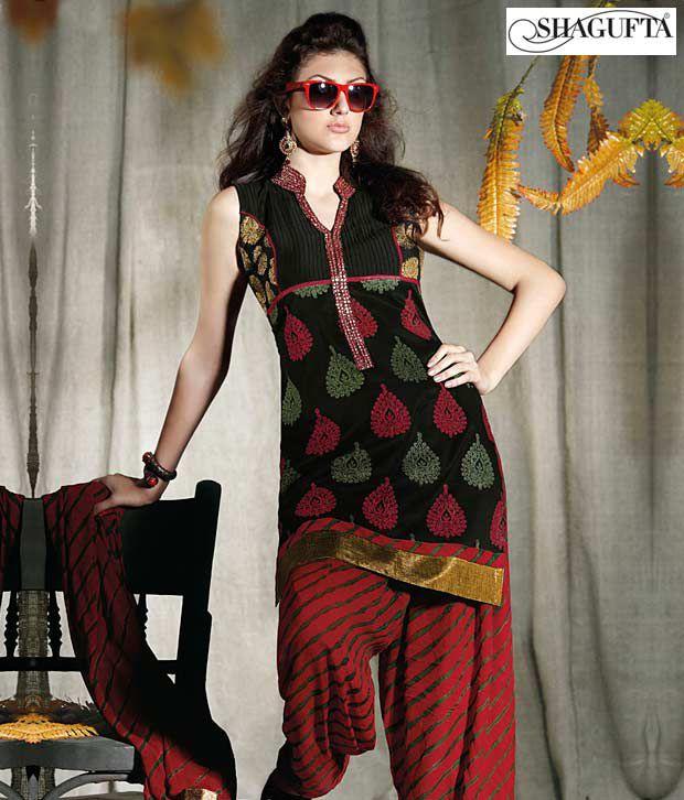 Shagufta Chanderi Banarasi Silk Suit-B-540