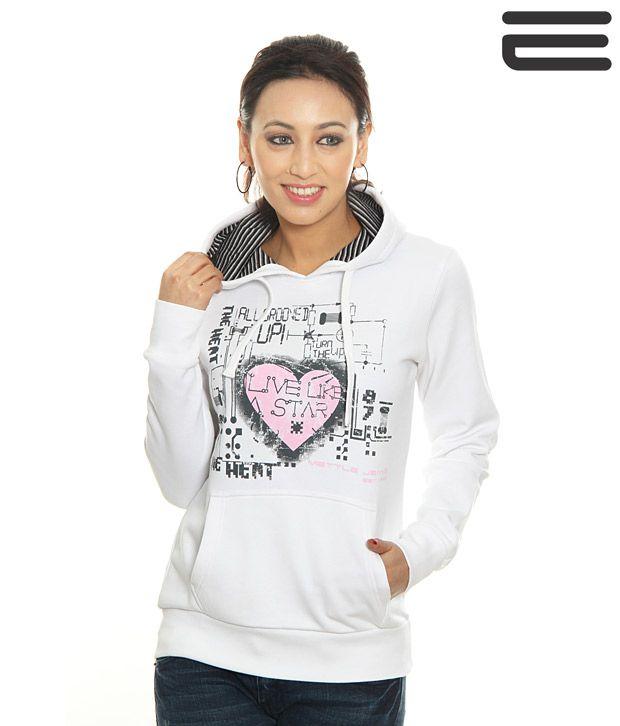 Mettle White Sweat Shirt-M-8009-White