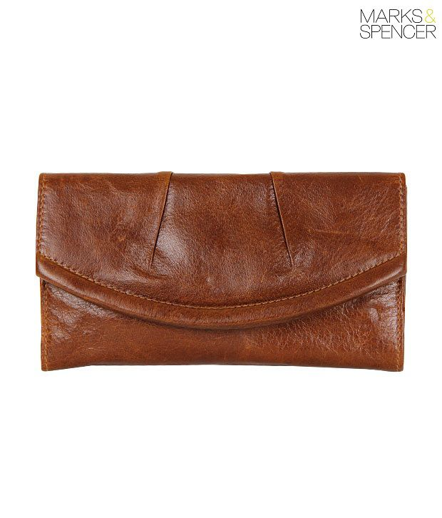 M&S Brown Leather Wallet
