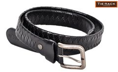 Tie Rack Criss Cross Belt-Black