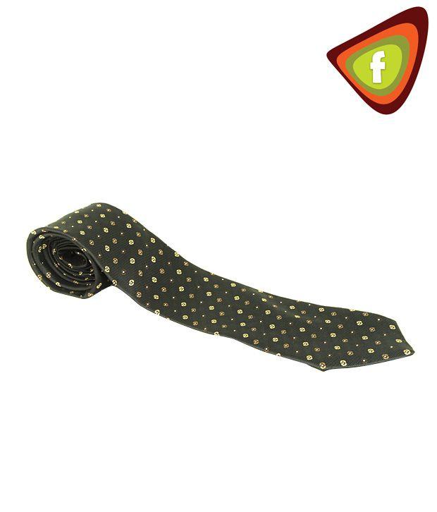 F-Ties Black Based Dotted Tie
