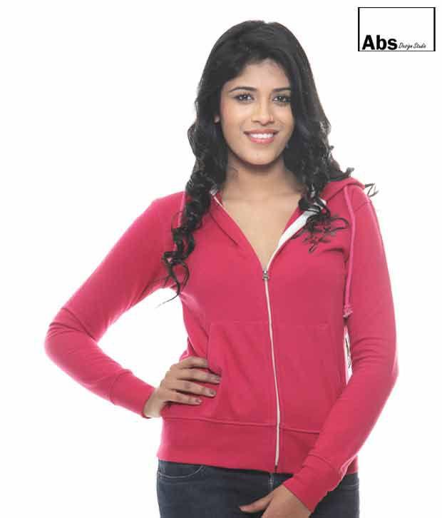 Abs Pink Hoodie Sweat Shirt-Abwg11110Pk