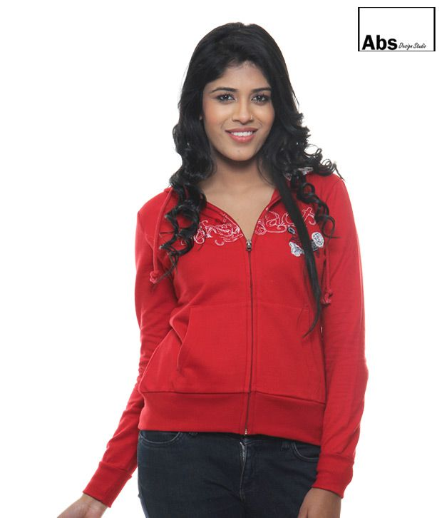 Abs Red Hoodie Sweat Shirt-Abwg11120Rd