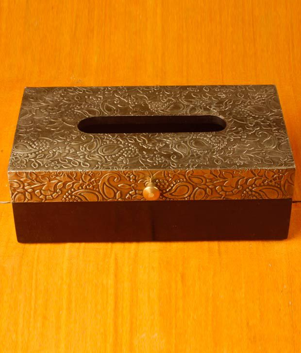 Metal Embossed Tissue Box By CraftsVilla