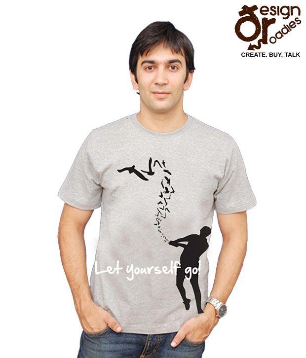 Design Roadies Let Yourself Go Grey T-shirt- 110100103