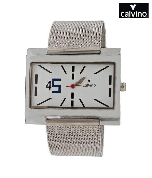 Calvino White Funky Dial Watch