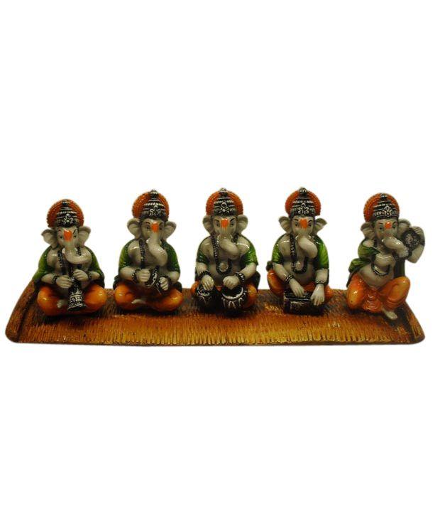 Earth Home Decor 5 Ganesha Musicians Buy Earth Home Decor 5 Ganesha Musicians At Best Price In