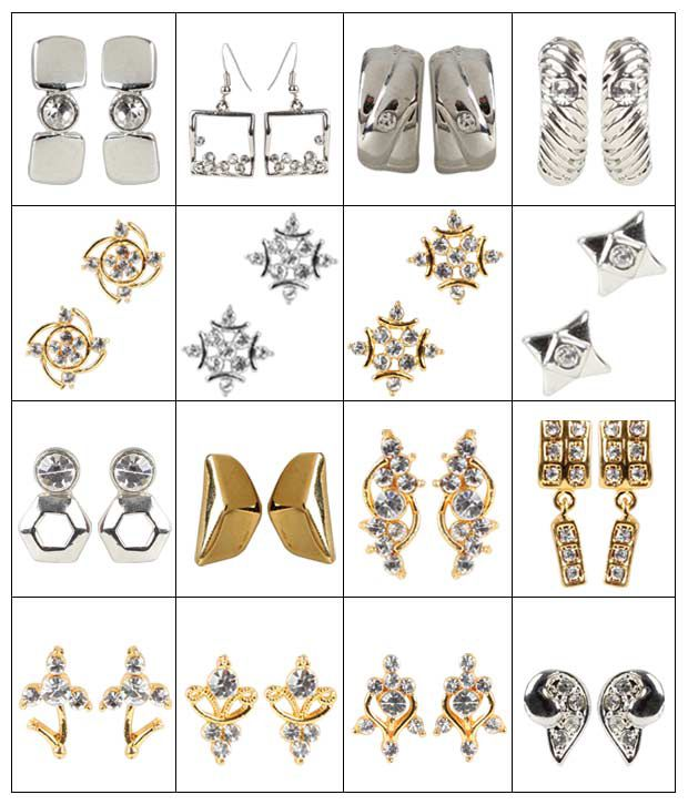 Deccan's 16 Earring Combo Set