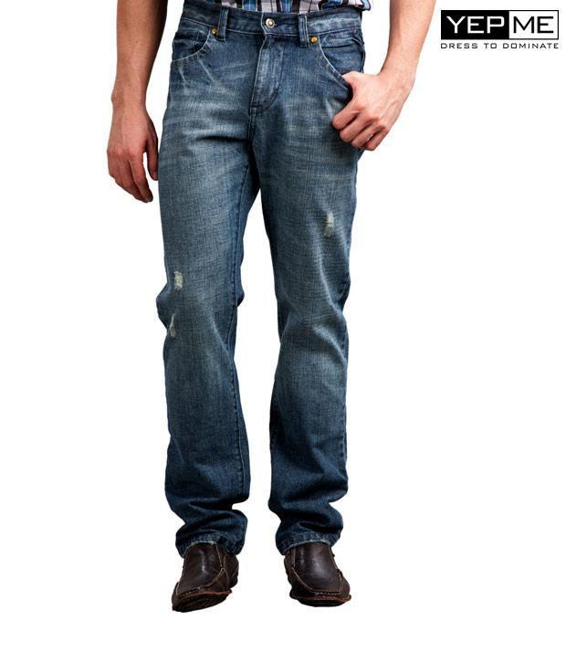 Yepme Outdoor Casual Dark Blue Jeans YPMJEAN0006